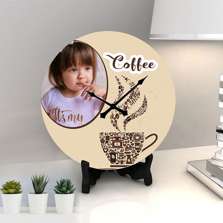 Coffee Personalized memory Clock