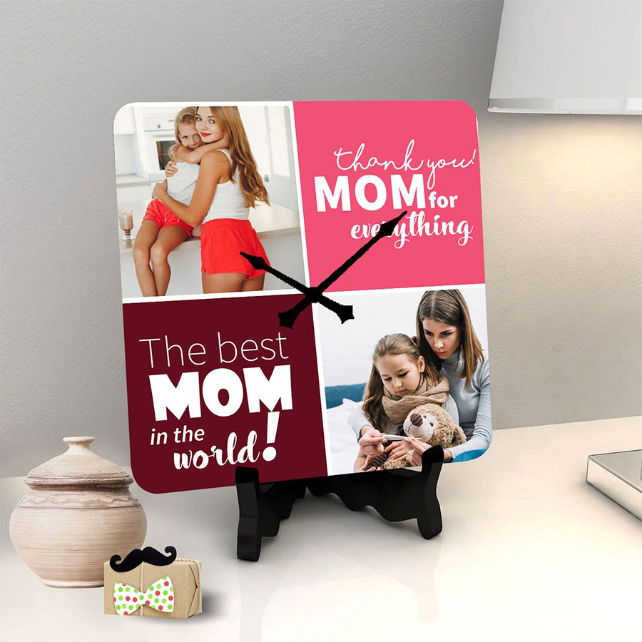 Thank you mom personalized clock