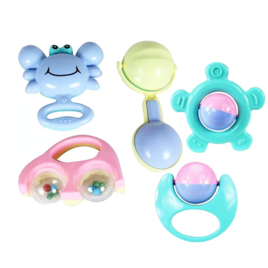 Baby Rattle Set Multicolored - Pack Of 5