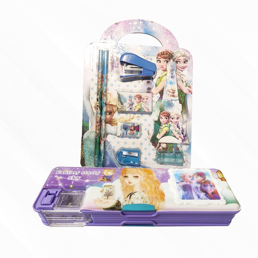 Frozen pencil box with Stationery Set
