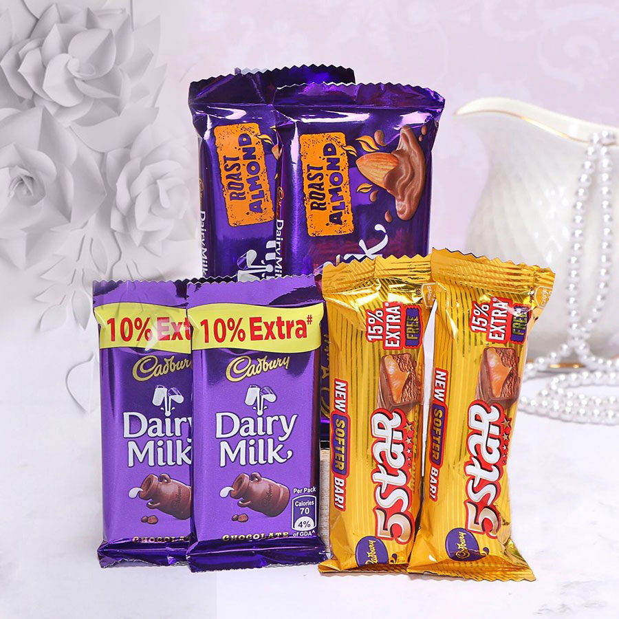 Cadbury Dairy Milk and 5 Star Hamper