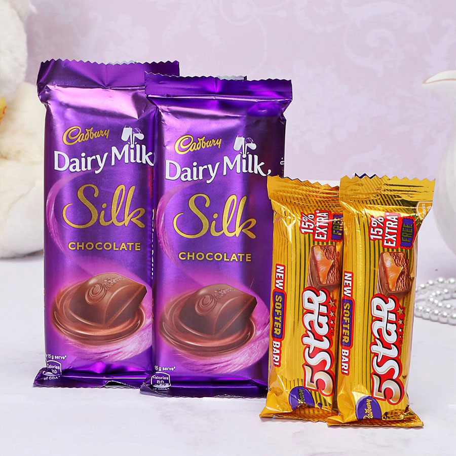 Cadbury Dairy Milk Silk and 5 Star Hamper