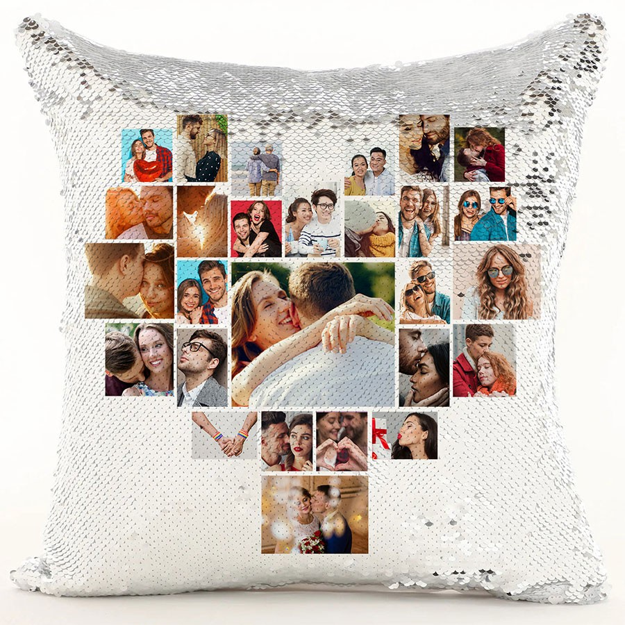 Heart Collage Magic Cushion