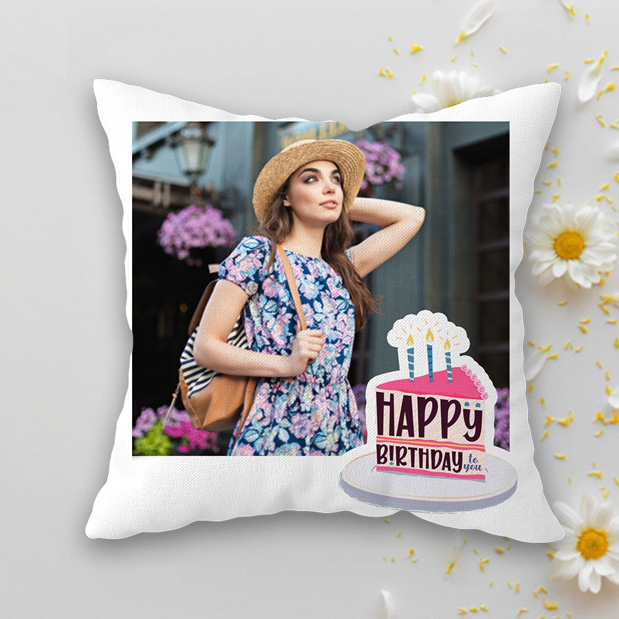 Personalized Birthday Cushion 12x12