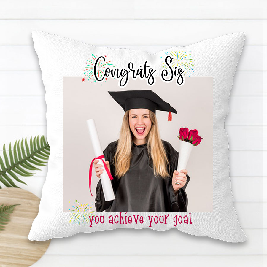 Congrats your sis with this Personalized  Cushion