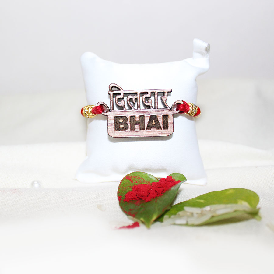 Dildaar Bhai 3D ECO Friendly Rakhi with Free Delivery and Roli Chawal
