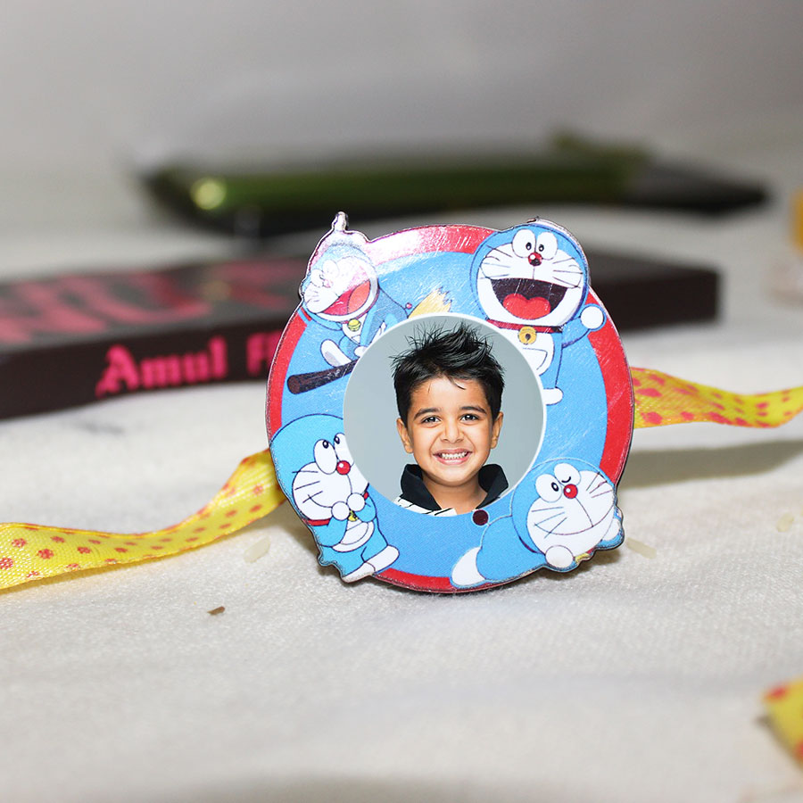 Doraemon  Personalized  Kids Magnetic Rakhi