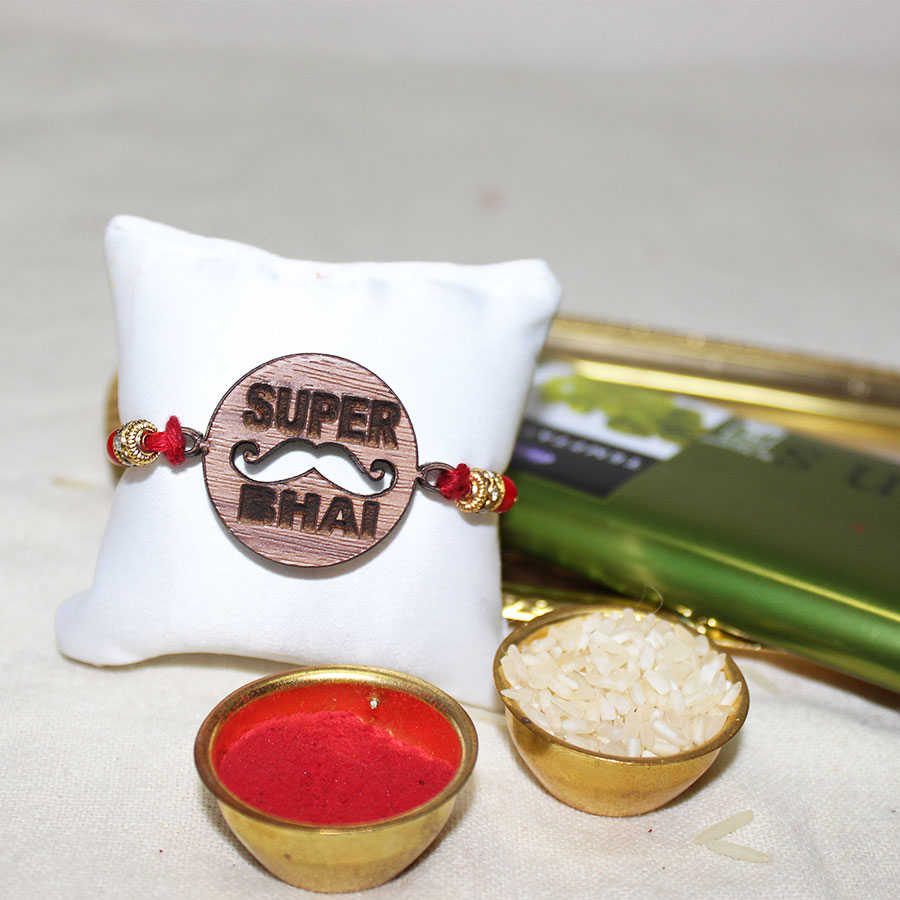 Super Bhai 3D ECO Friendly Rakhi with Free Delivery and Roli Chawal
